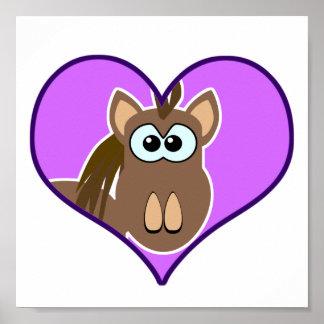 Cute Goofkins horse heart Poster