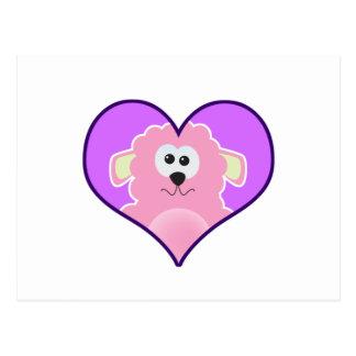 Cute Goofkins lamb heart Postcard