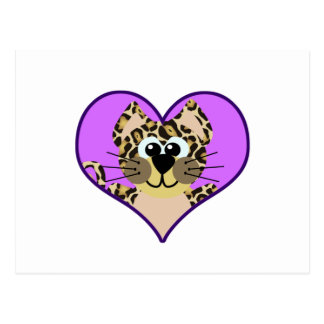 Cute Goofkins leopard heart Postcard
