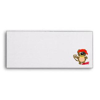 Cute Goofkins leopard pirate Envelopes