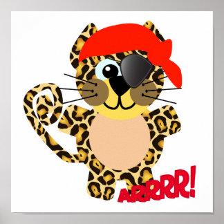 Cute Goofkins leopard pirate Posters