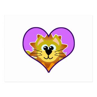 Cute Goofkins lion heart Postcard