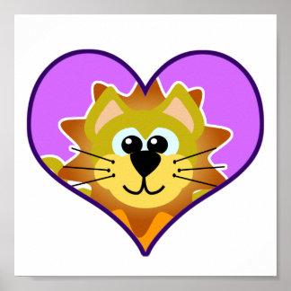 Cute Goofkins lion heart Poster