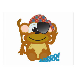 Cute Goofkins monkey pirate Postcard