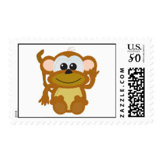 Cute Goofkins monkey Postage