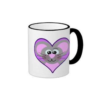 Cute Goofkins mouse heart Ringer Coffee Mug