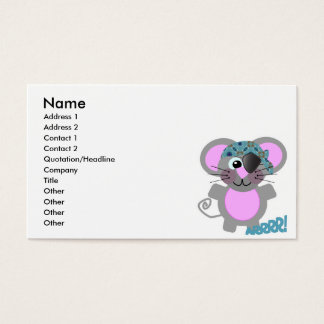 Cute Goofkins mouse pirate Business Card