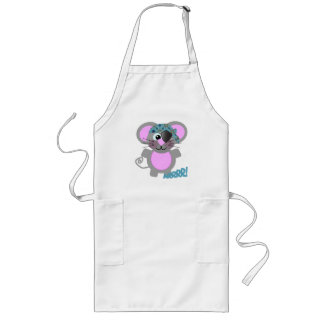 Cute Goofkins mouse pirate Long Apron