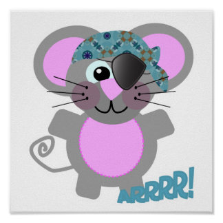 Cute Goofkins mouse pirate Print