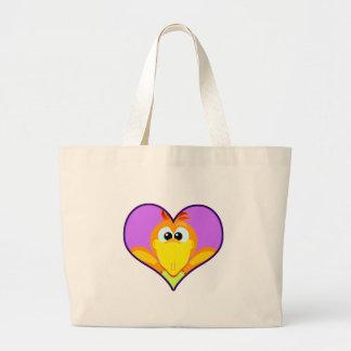 Cute Goofkins orange chick bird heart Bags