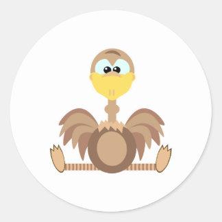 Cute Goofkins ostrich Classic Round Sticker