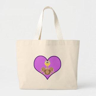 Cute Goofkins ostrich heart Canvas Bags