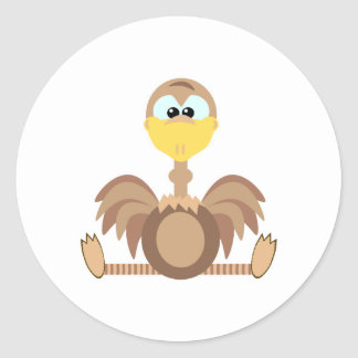 Cute Goofkins ostrich Stickers
