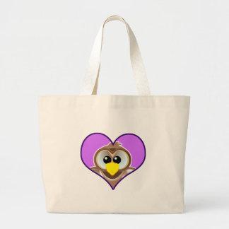 Cute Goofkins owl heart Canvas Bags
