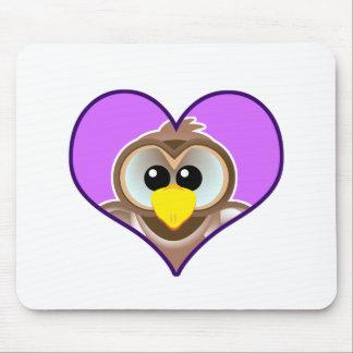 Cute Goofkins owl heart Mouse Pad