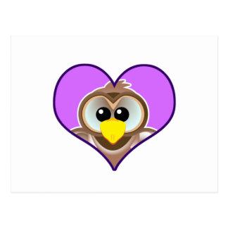 Cute Goofkins owl heart Postcard