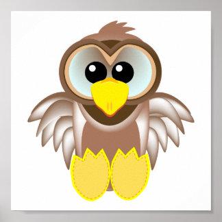 Cute Goofkins owl Poster