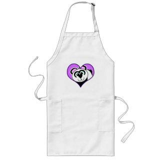 Cute Goofkins panda bear heart Apron