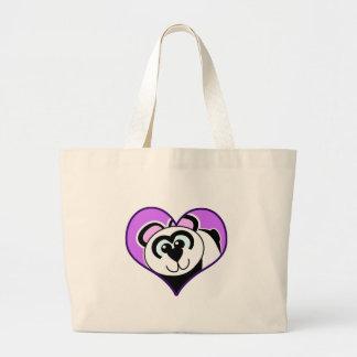 Cute Goofkins panda bear heart Canvas Bags
