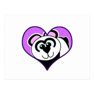 Cute Goofkins panda bear heart Postcard