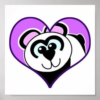 Cute Goofkins panda bear heart Poster
