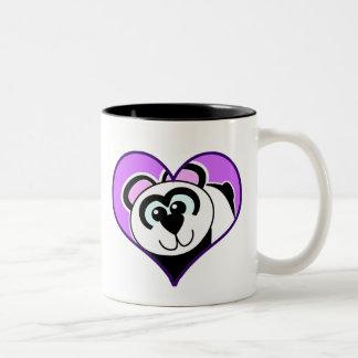 Cute Goofkins panda bear heart Two-Tone Coffee Mug