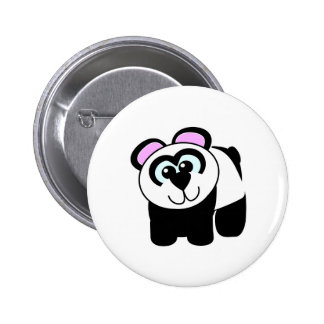 Cute Goofkins panda Pinback Buttons
