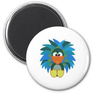 Cute Goofkins peacock 2 Inch Round Magnet