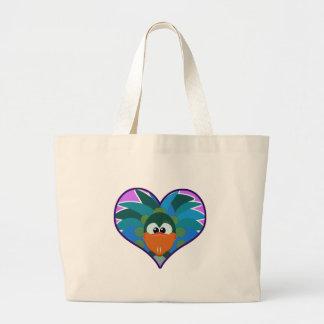 Cute Goofkins peacock heart Canvas Bag