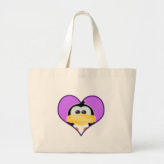 Cute Goofkins penguin heart Canvas Bag