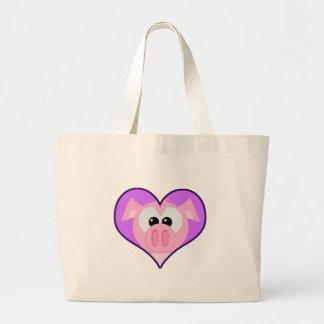 Cute Goofkins piggy heart Tote Bags
