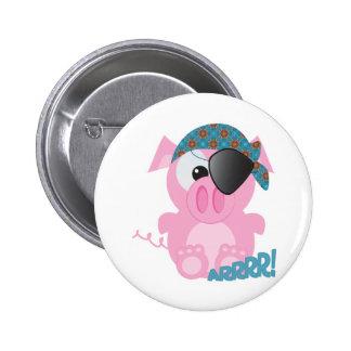 Cute Goofkins piggy pirate 2 Inch Round Button