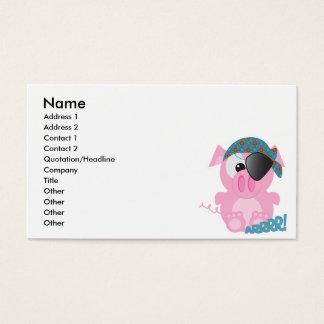 Cute Goofkins piggy pirate Business Card