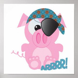 Cute Goofkins piggy pirate Poster