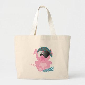 Cute Goofkins piggy pirate Tote Bags