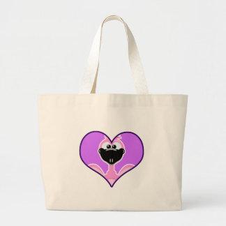 Cute Goofkins pink flamingo heart Tote Bag