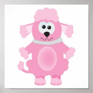 Cute Goofkins pink poodle Poster