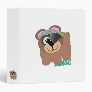 Cute Goofkins pirate bear 3 Ring Binder