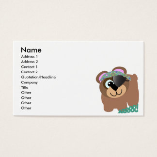 Cute Goofkins pirate bear Business Card