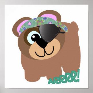 Cute Goofkins pirate bear Poster