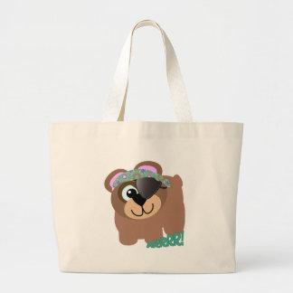 Cute Goofkins pirate bear Tote Bags