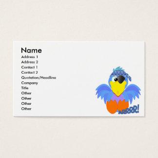 Cute Goofkins pirate bluebird Business Card