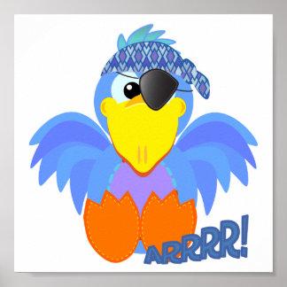 Cute Goofkins pirate bluebird Poster
