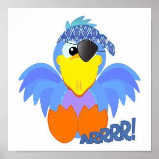 Cute Goofkins pirate bluebird Posters