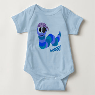Cute Goofkins pirate caterpillar Baby Bodysuit