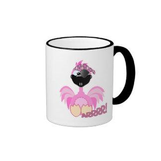 Cute Goofkins pirate flamingo Ringer Mug