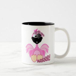 Cute Goofkins pirate flamingo Two-Tone Coffee Mug