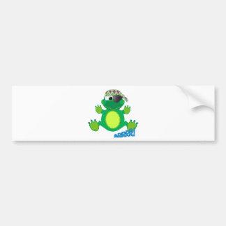 Cute Goofkins pirate froggy Bumper Sticker