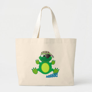 Cute Goofkins pirate froggy Tote Bags