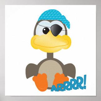 Cute Goofkins pirate goose Print
